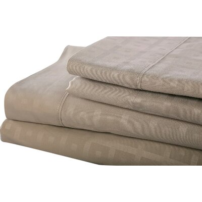 6 Piece Sheet Set Size: Queen, Color: Silver