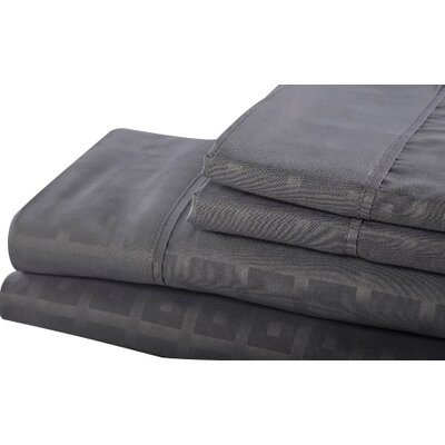 6 Piece Sheet Set Size: Queen, Color: Gray