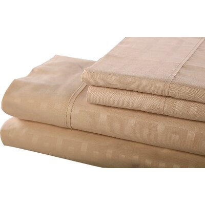 6 Piece Sheet Set Size: Queen, Color: Tan