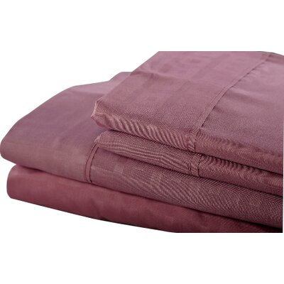 6 Piece Sheet Set Color: Plum, Size: King