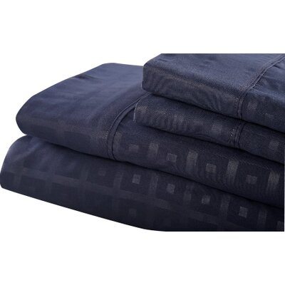 6 Piece Sheet Set Size: King, Color: Navy Blue