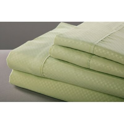 6 Piece Sheet Set Size: King, Color: Pistachio