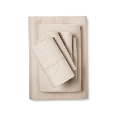 6 Piece Sheet Set Size: King, Color: Tan
