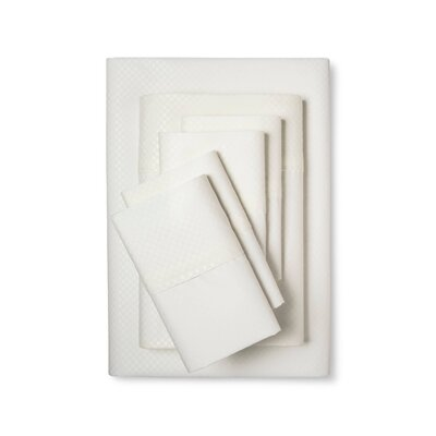 6 Piece Sheet Set Size: King, Color: Ivory