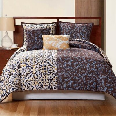 Sahara Reversible Duvet Cover Set Size: Twin