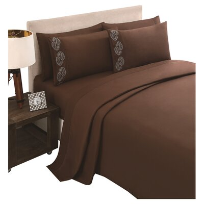 Brighton Sheet Set Color: Chocolate, Size: Queen