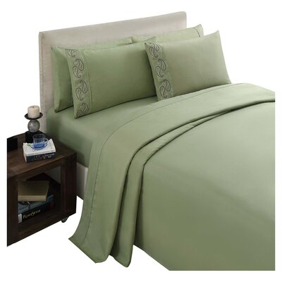 Brighton Sheet Set Color: Green, Size: Queen
