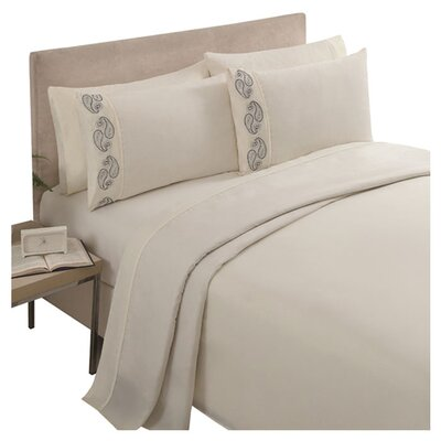 Brighton Sheet Set Color: Ivory, Size: Queen