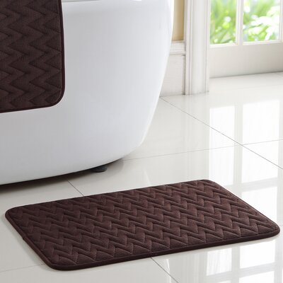 Zig Zag Memory Foam Rug Color: Chocolate