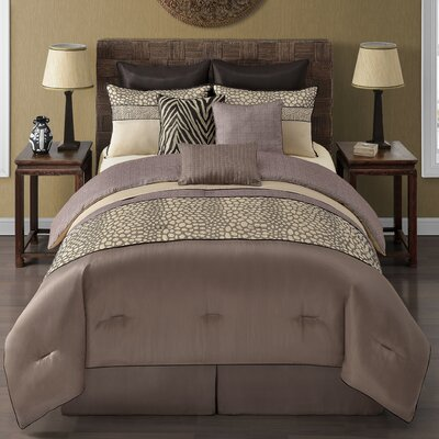 Mali 9 Piece Comforter Set Size: King