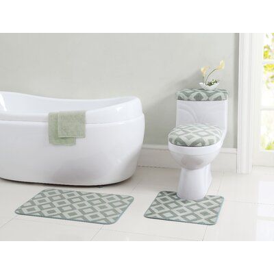 Vivienne 12 Piece Bath Rug Set Color: Sage