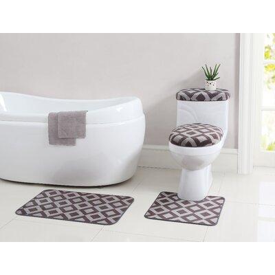 Vivienne 12 Piece Bath Rug Set Color: Taupe