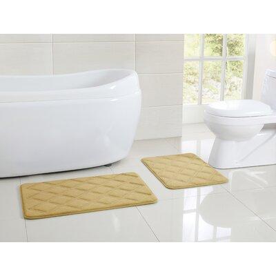 VCNY Diamond Memory Foam Embossed Bath Mat - Size: 1'5