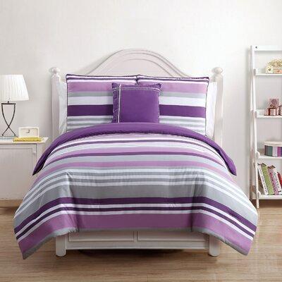 Finn Comforter Set Color: Lavender, Size: Twin