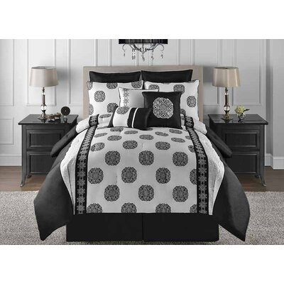 Celeste 9 Piece Comforter Set Size: King