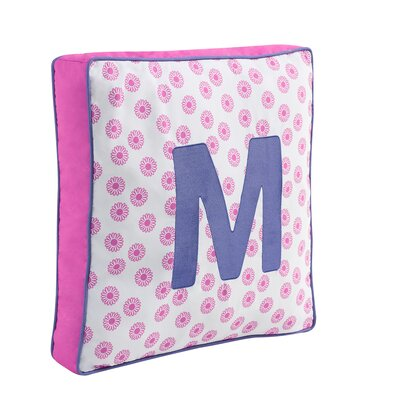 VCNY Monogram M Throw Pillow - Color: Pink