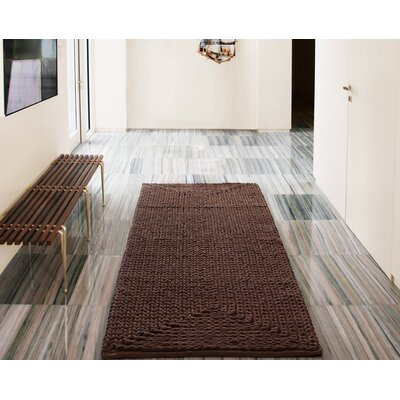 Murrin Chenille Chocolate Area Rug