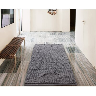 Murrin Chenille Gray Area Rug