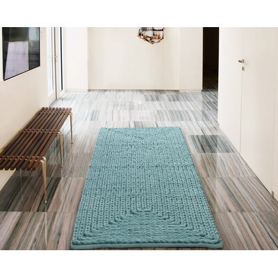Barron Chenille Blue Area Rug