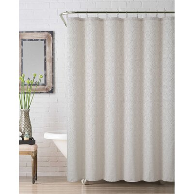 Melbourne Jaq Shower Curtain Color: Ivory