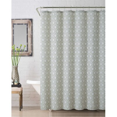 Melbourne Jaq Shower Curtain Color: Sage