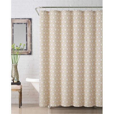 Melbourne Jaq Shower Curtain Color: Yellow