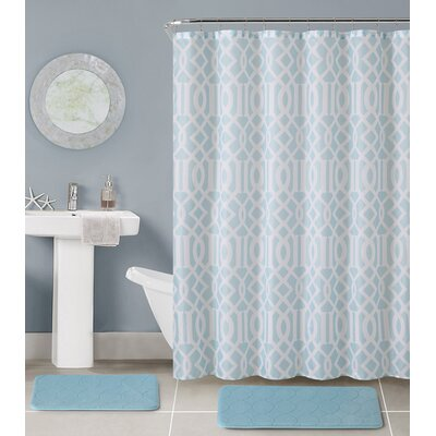 Aaron 15 Piece Bath Rug Set Color: Blue