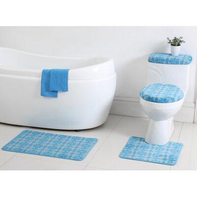 Annabelle 12 Piece Bath Rug Set Color: Spa / Blue