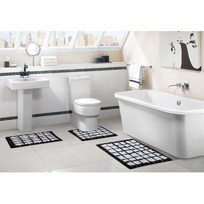 Blox 3 Piece Bath Rug Set Color: Black