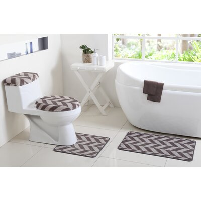 Josette 6 Piece Bath Rug Set Color: Gray