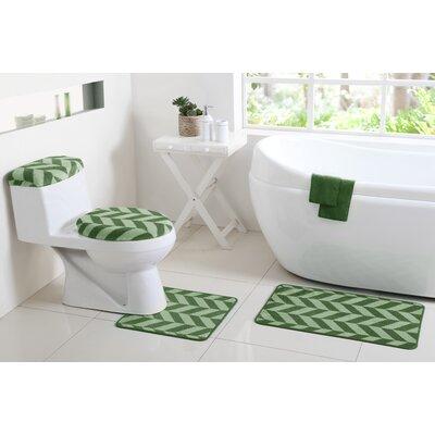 Josette 6 Piece Bath Rug Set Color: Sage