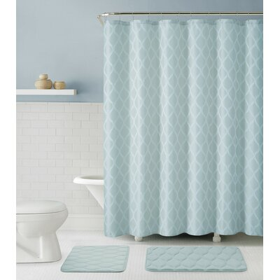 Mercer 15 Piece Bath Rug Set Color: Blue