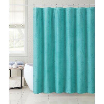 Mystic 13 Piece Shore Shell Shower Curtain Set Color: Teal