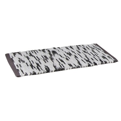 Stax Space Dye Cotton Bath Rug Color: Black, Size: 21 x 34