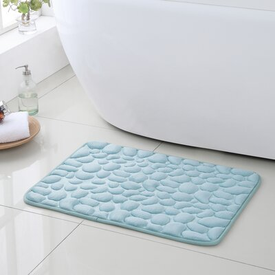 Pebbles Bath Rugs Color: Blue