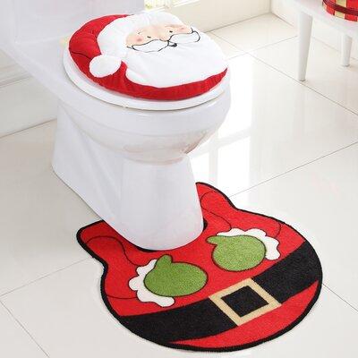 Santa 2 Piece Bath Rug Set