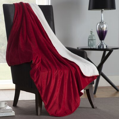 Solid Plush Throw Color: Red
