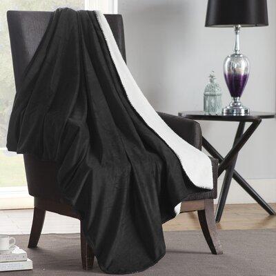 Solid Plush Throw Color: Black