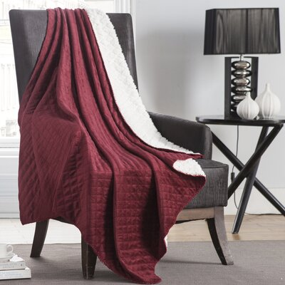 Ultra Sonic Diamond Throw Color: Red