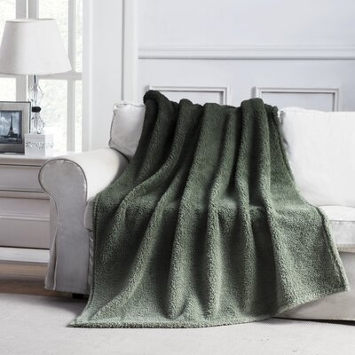 Jessica Ombre Throw Blanket Color: Green