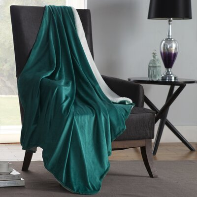 Solid Plush Throw Color: Teal