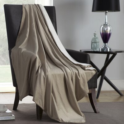 Solid Plush Throw Color: Taupe