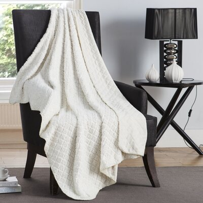 Ultra Sonic Diamond Throw Color: Ivory