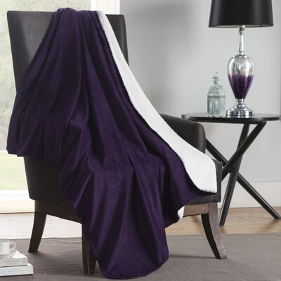 Solid Plush Throw Color: Purple