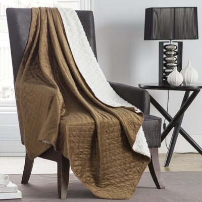 Ultra Sonic Diamond Throw Color: Taupe