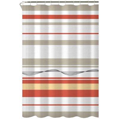 Karma Cotton Shower Curtain Color: Orange