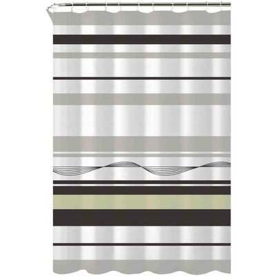 Karma Cotton Shower Curtain Color: Chocolate