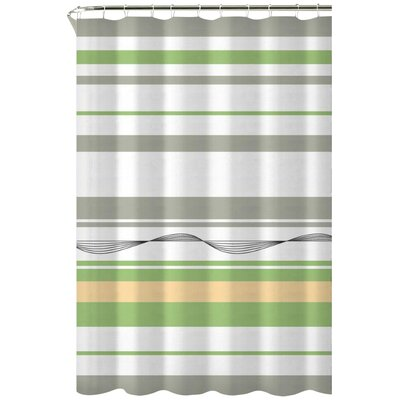 Karma Cotton Shower Curtain Color: Green