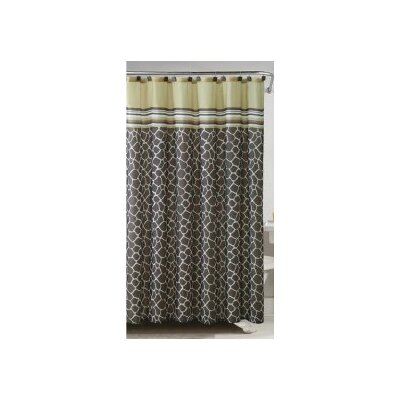 Khadi Shower Curtain Color: Yellow/Brown