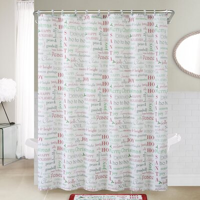 Holiday Collage 14 Piece Shower Curtain Set